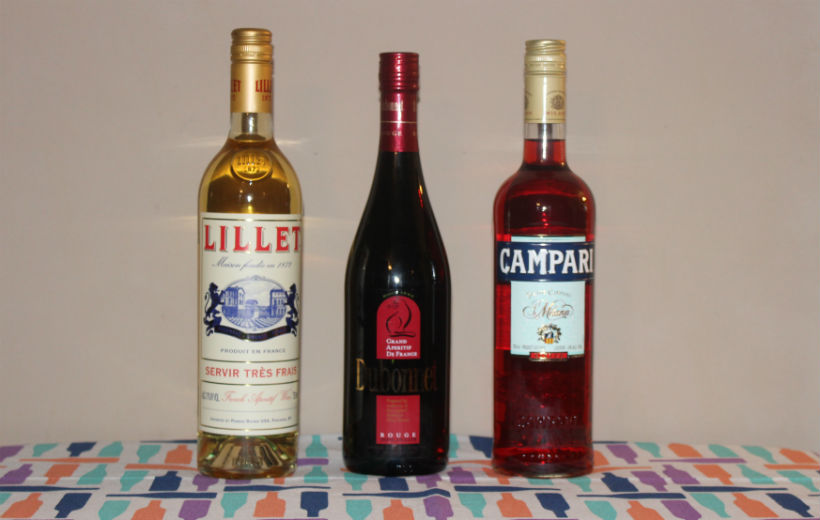 Lillet blanc dubonnet rouge and campari three classic for Classic aperitif